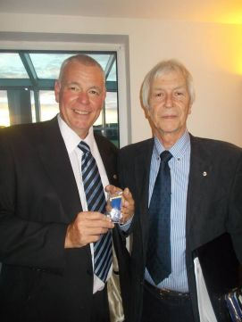 Brian Treadwell pictured right becomes Club President