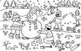 Christmas Scene Coloring Pages Eassume