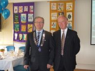Lion President Eric and PDG Lion Patrick