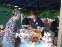 The Lions partners cake stall