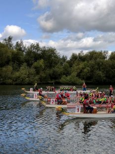 Dragon Boat  racing underway