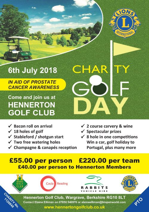 Lions Charity Golf Day 2018