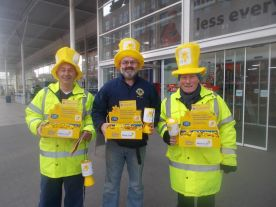 raising money for Marie Curie