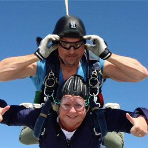 Sharon's skydive